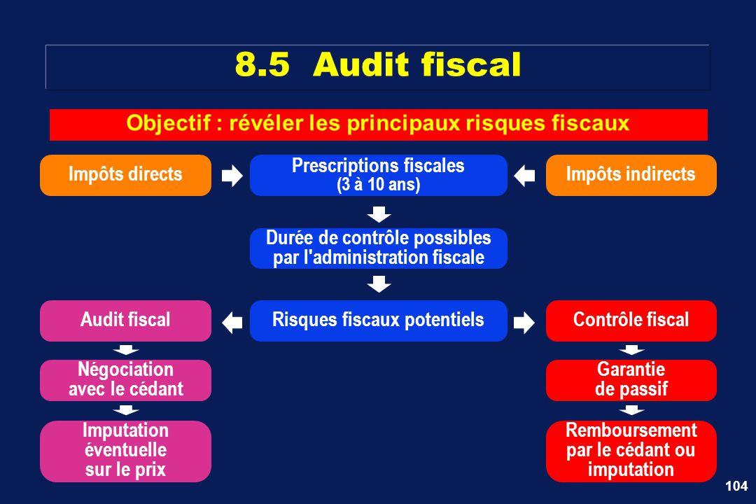 Objectif : révéler les principaux risques fiscaux
