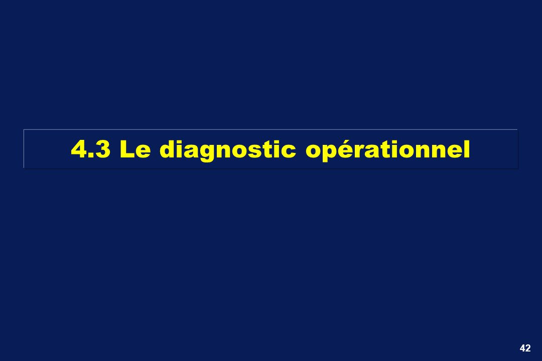 4.3 Le diagnostic opérationnel