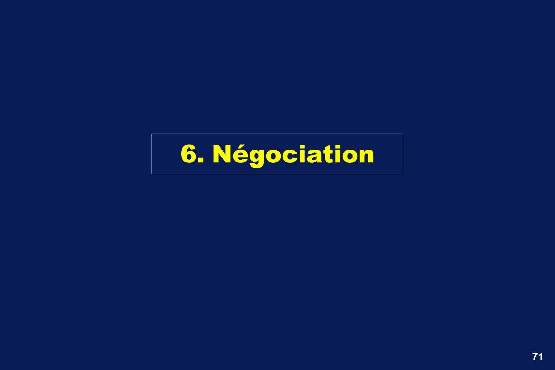 6. Négociation