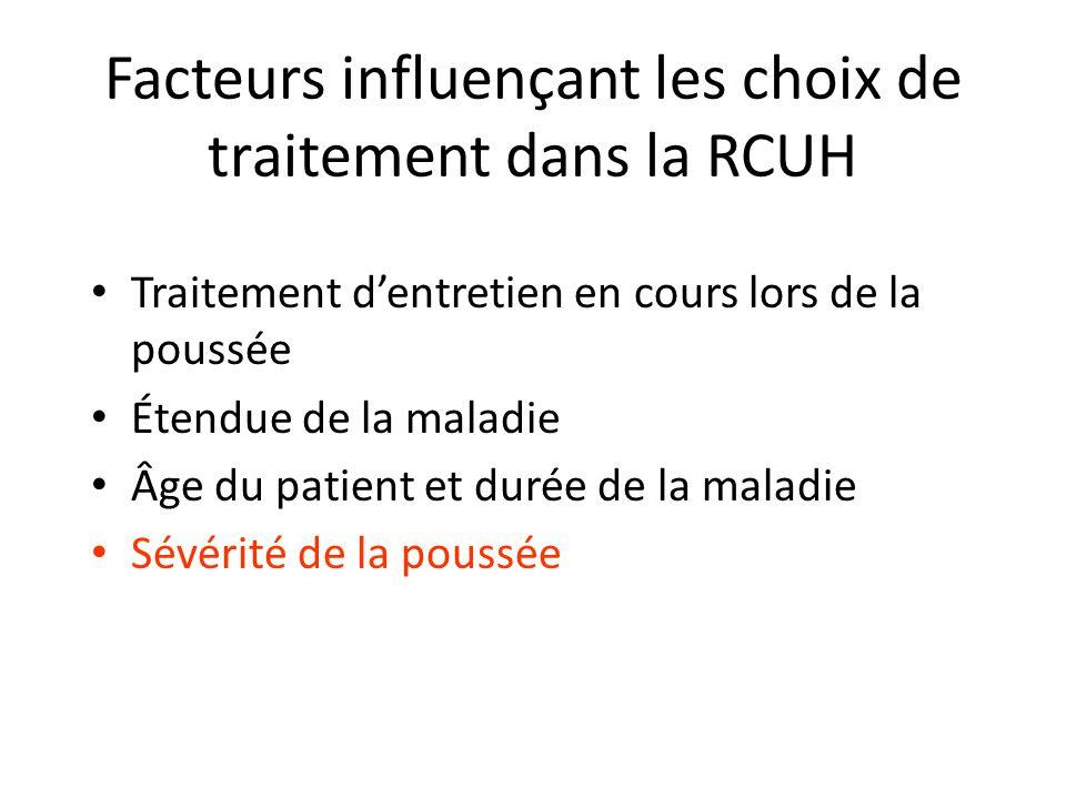 Facteurs influençant les choix de traitement dans la RCUH