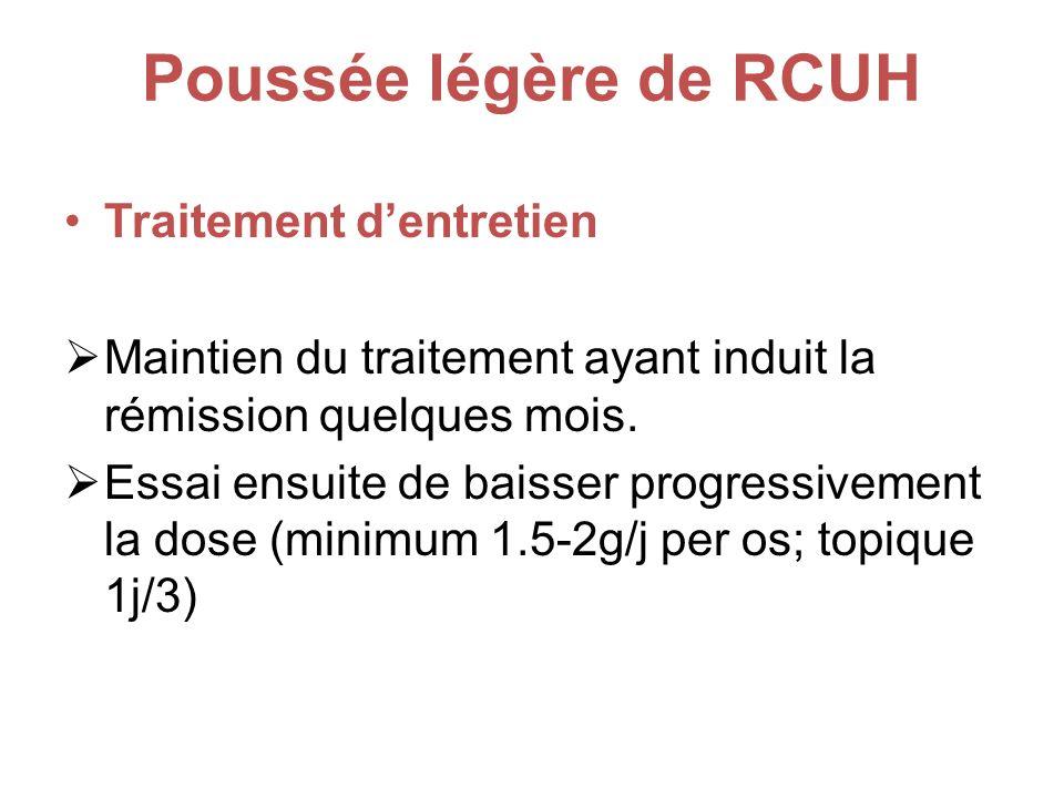Poussée légère de RCUH Traitement d'entretien