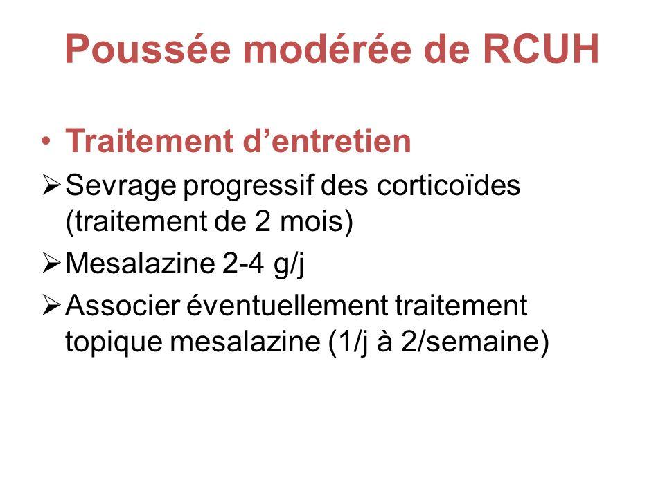 Poussée modérée de RCUH