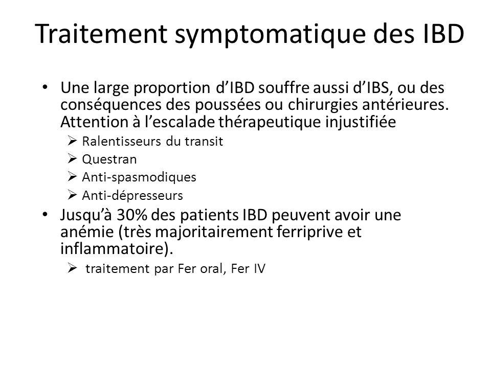 Traitement symptomatique des IBD