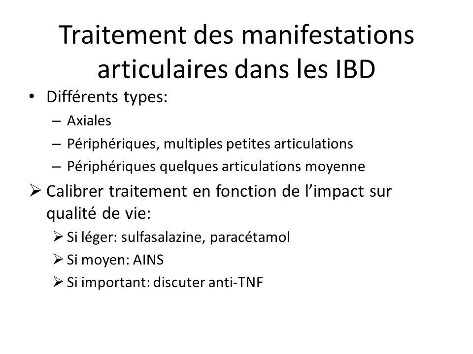 Traitement des manifestations articulaires dans les IBD