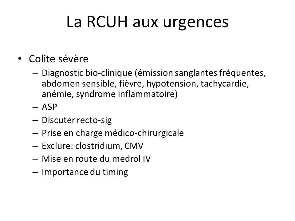 La RCUH aux urgences Colite sévère