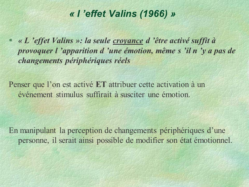 « l 'effet Valins (1966) »