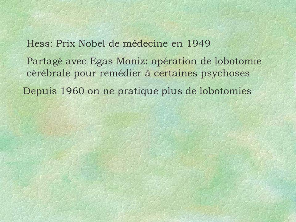 Depuis 1960 on ne pratique plus de lobotomies
