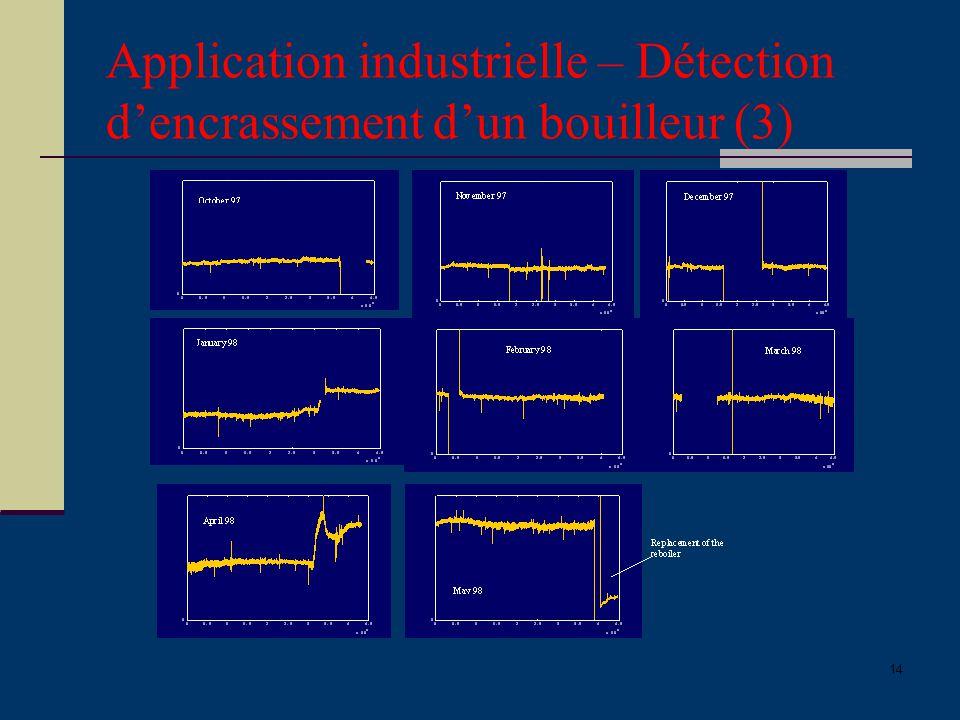 Application industrielle – Détection d'encrassement d'un bouilleur (3)