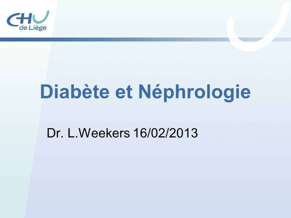 Diabète et Néphrologie