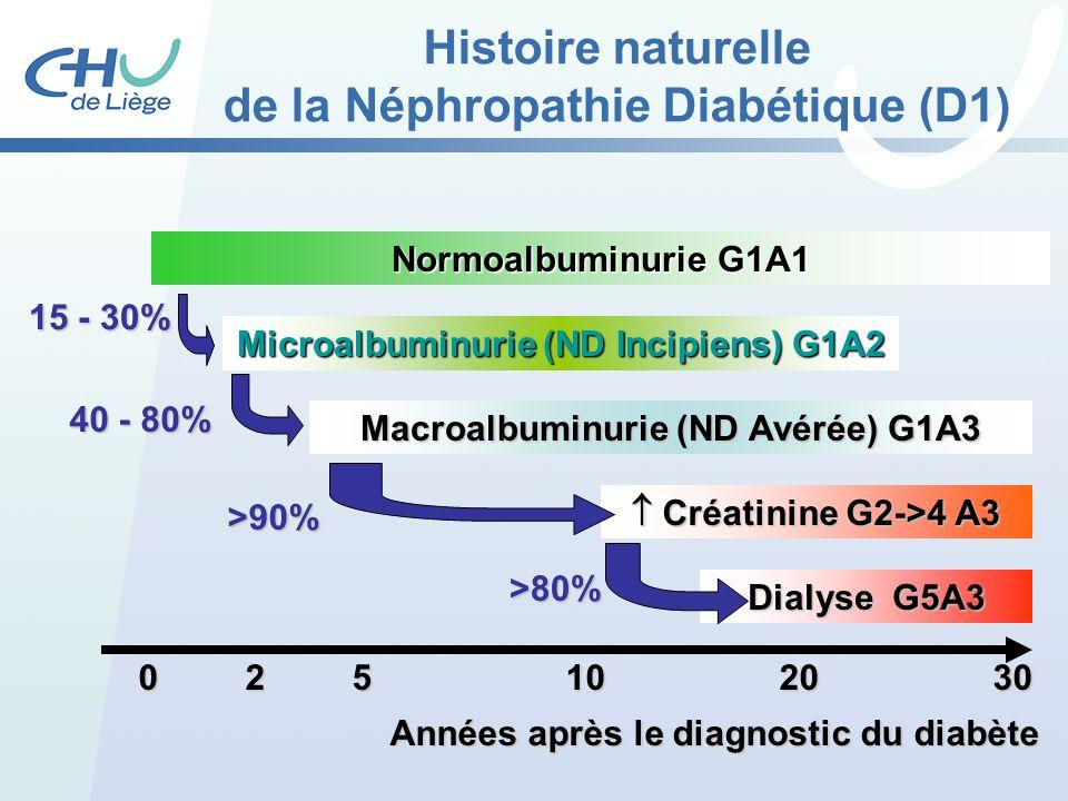 Histoire naturelle de la Néphropathie Diabétique (D1)