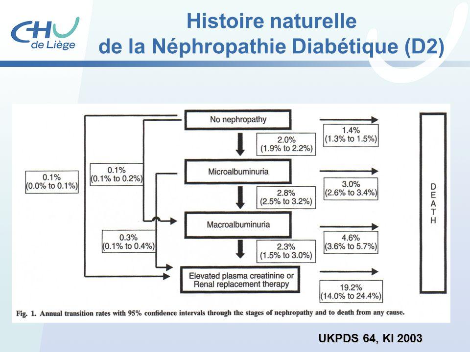 Histoire naturelle de la Néphropathie Diabétique (D2)