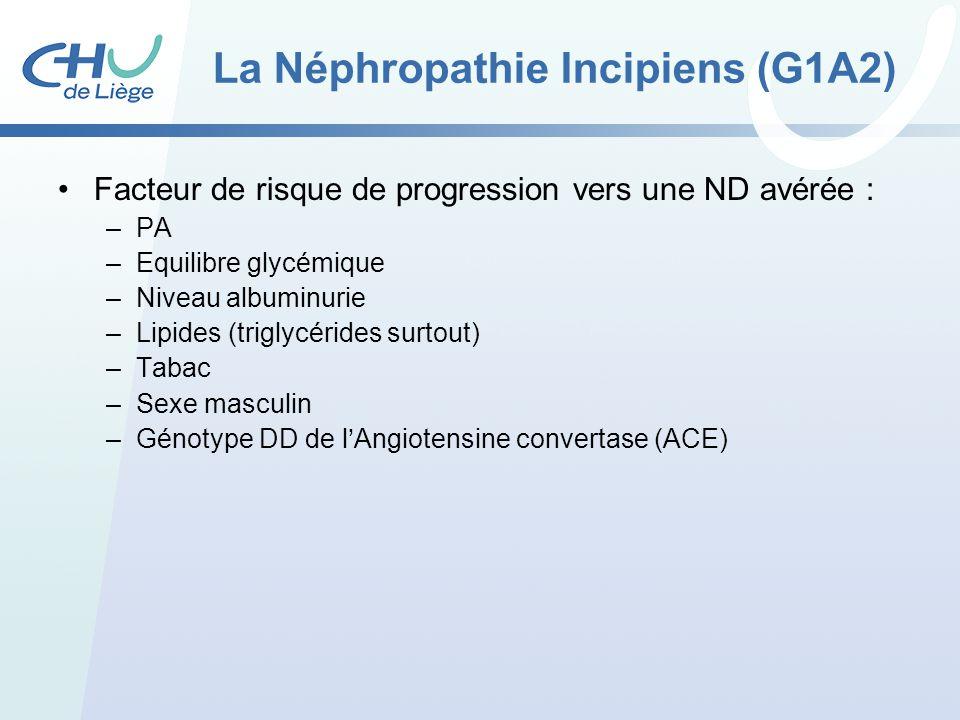 La Néphropathie Incipiens (G1A2)