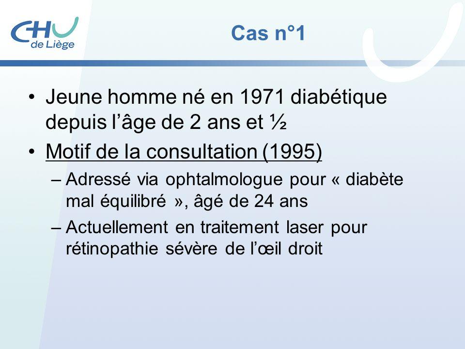 Jeune homme né en 1971 diabétique depuis l'âge de 2 ans et ½