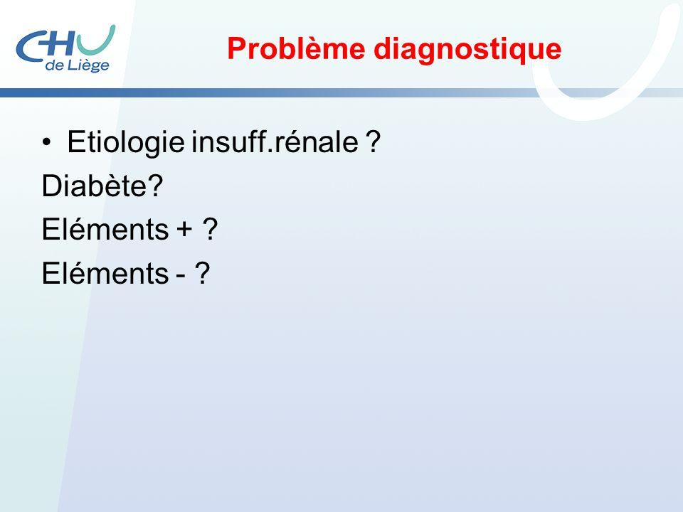 Problème diagnostique