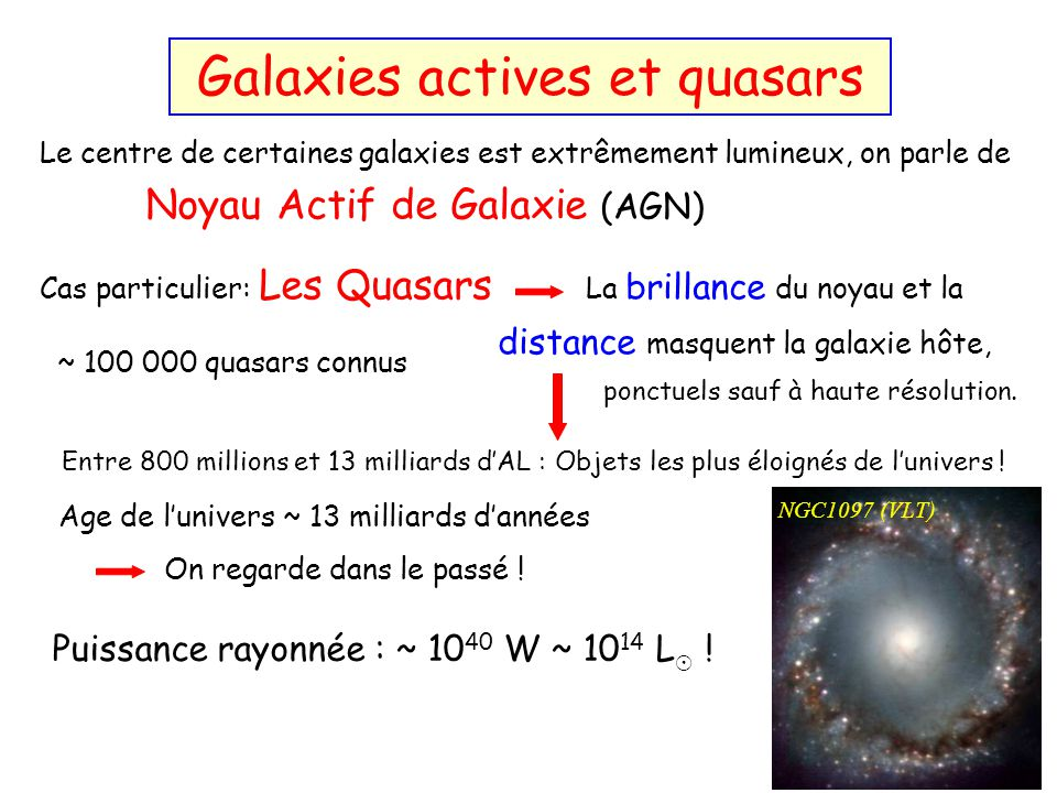 Galaxies actives et quasars