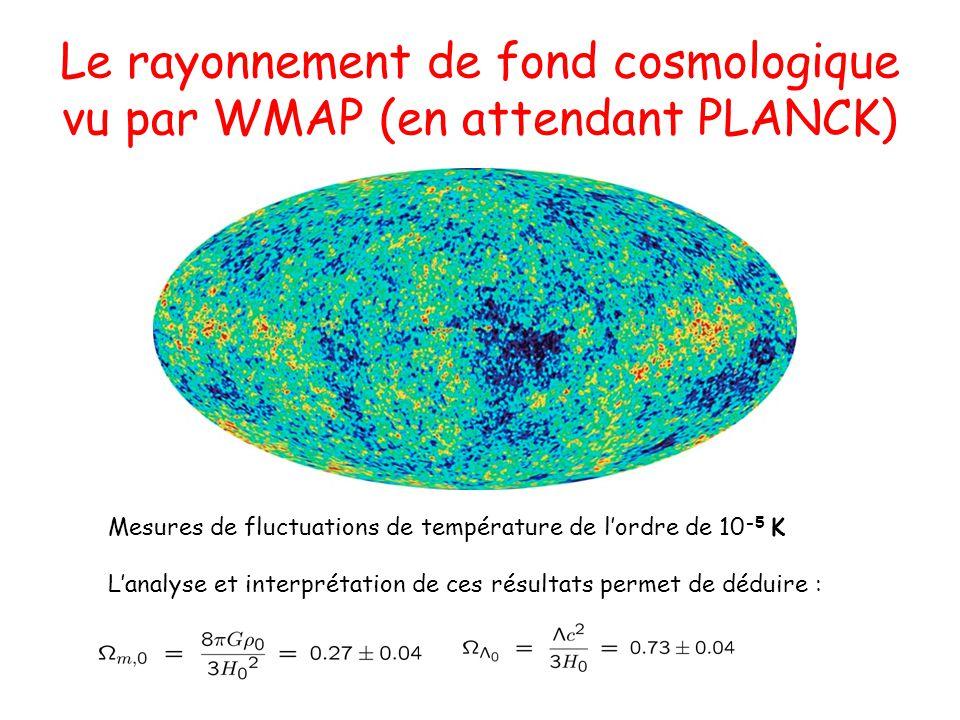 Le rayonnement de fond cosmologique vu par WMAP (en attendant PLANCK)