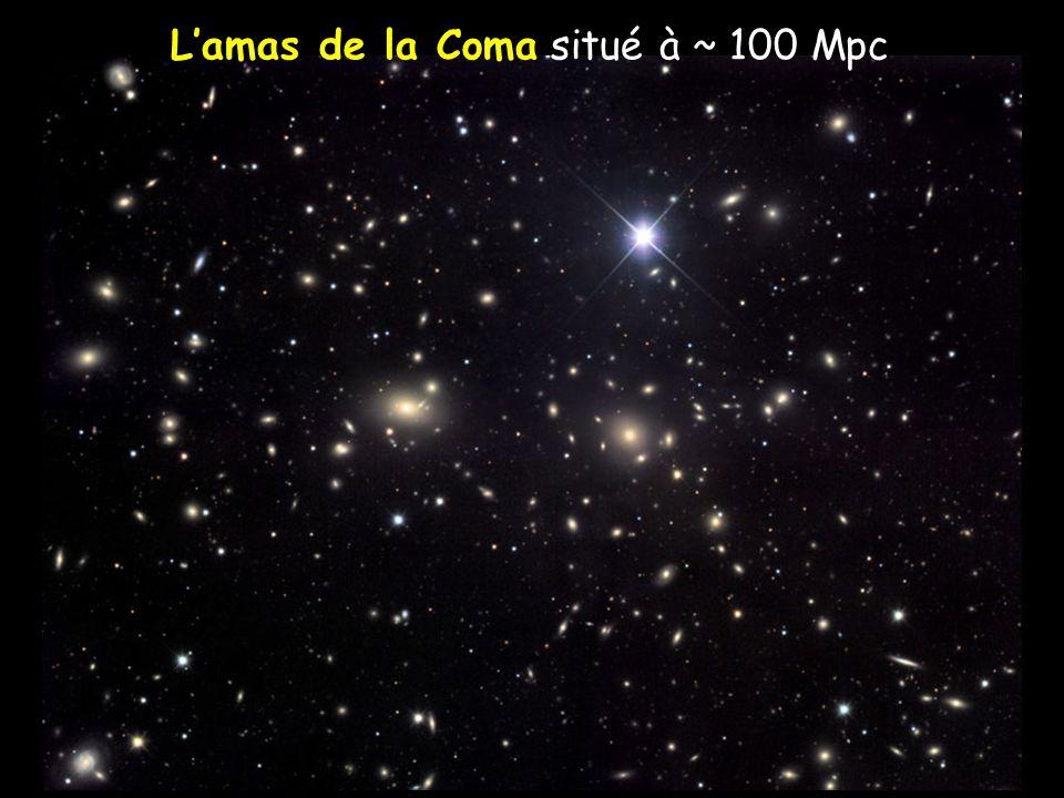 L'amas de la Coma situé à ~ 100 Mpc