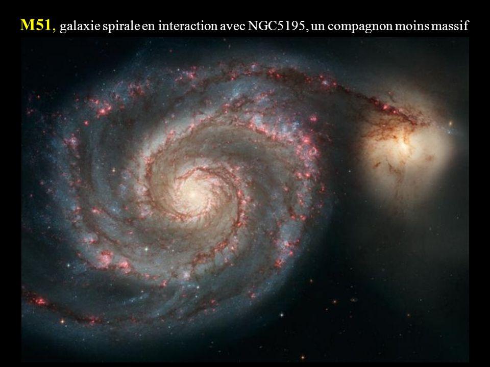 M51, galaxie spirale en interaction avec NGC5195, un compagnon moins massif