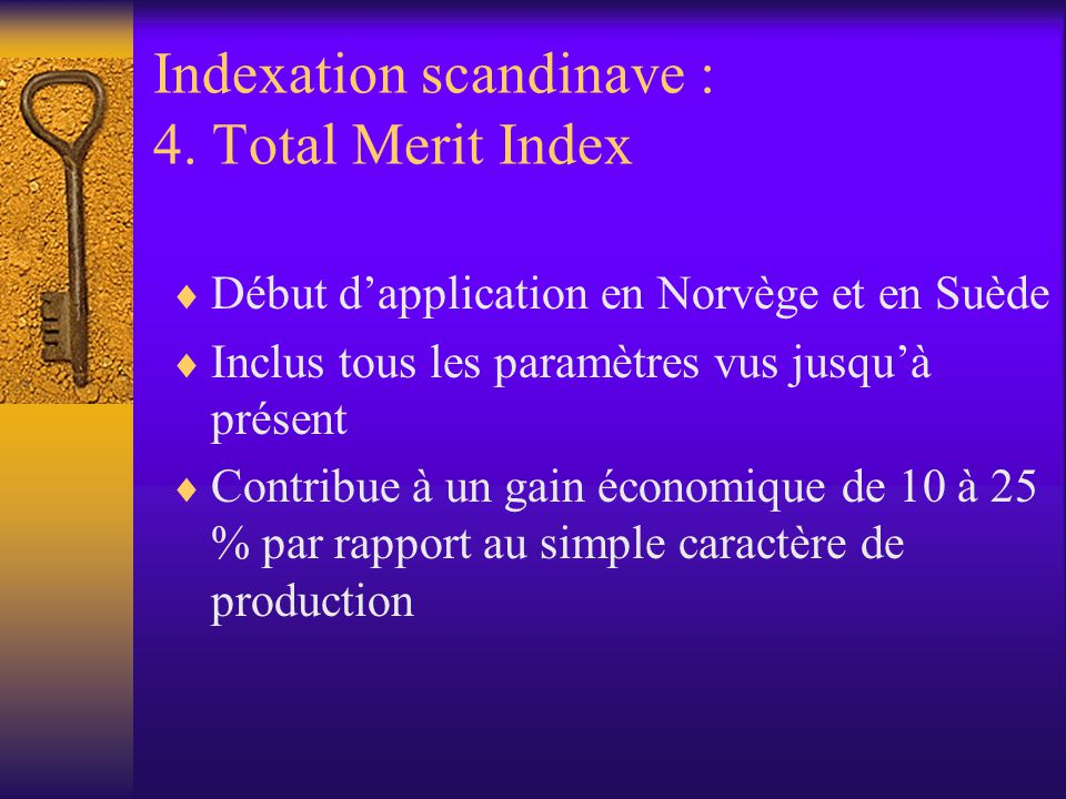 Indexation scandinave : 4. Total Merit Index