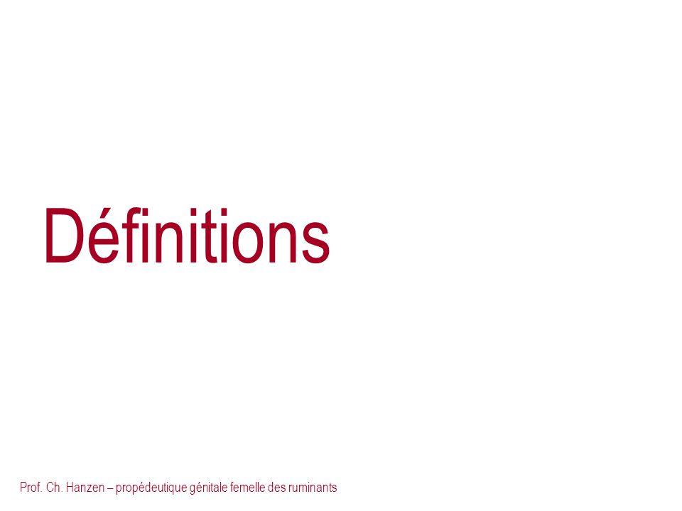Définitions Prof. Ch. Hanzen – propédeutique génitale femelle des ruminants