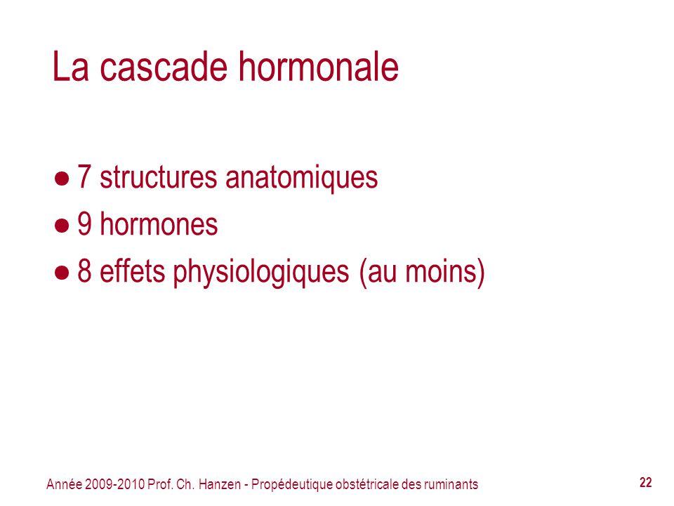 La cascade hormonale 7 structures anatomiques 9 hormones