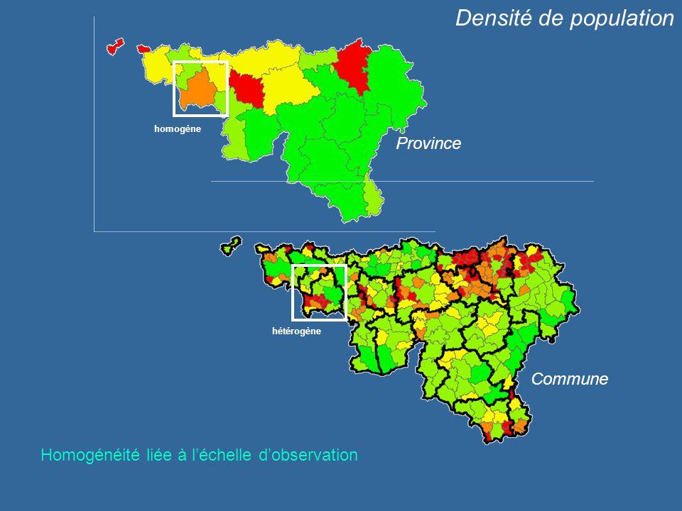 Densité de population Province Commune