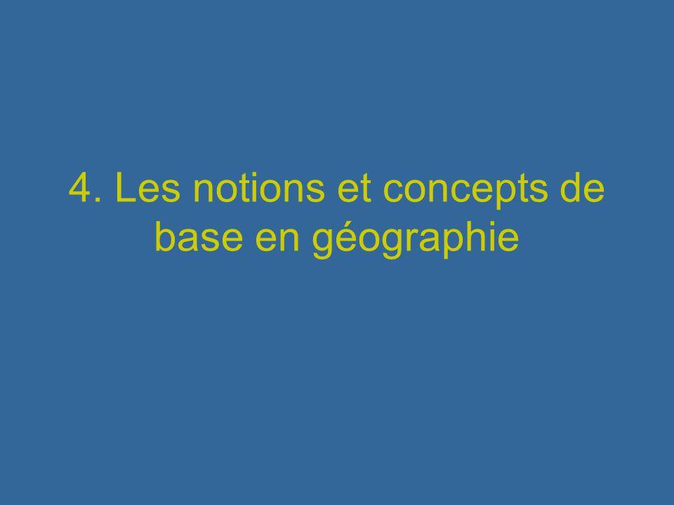 4. Les notions et concepts de base en géographie