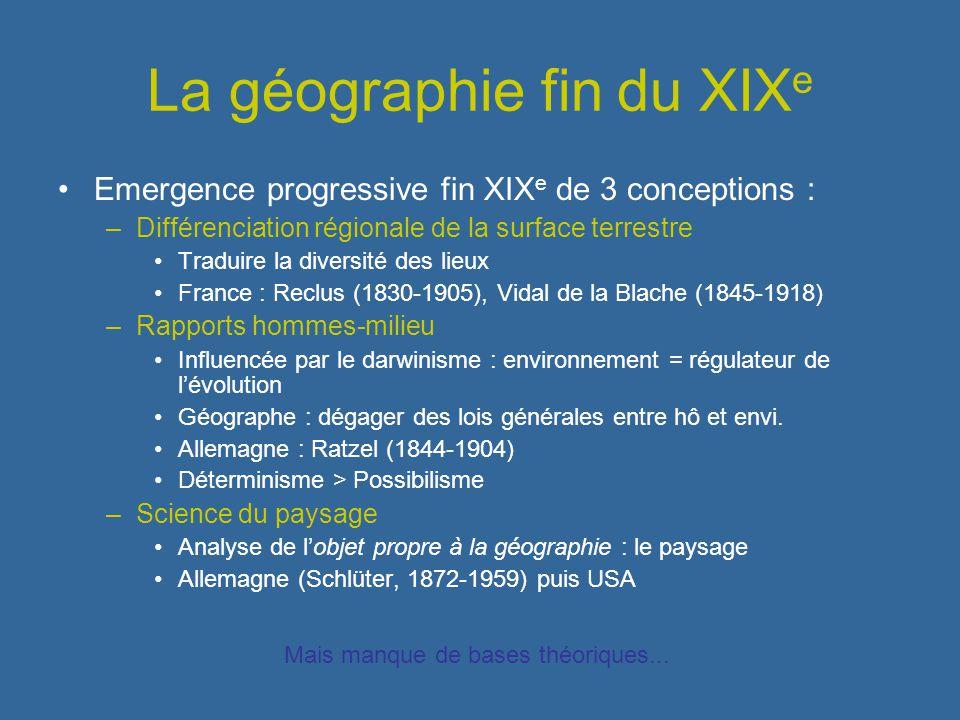 La géographie fin du XIXe