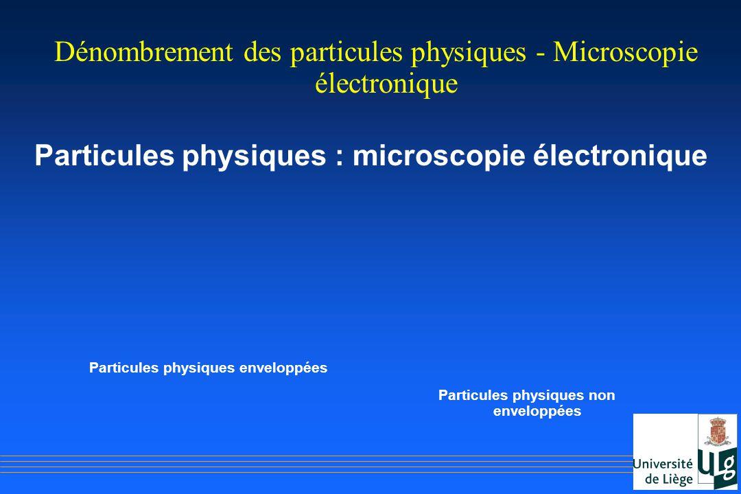 Particules physiques enveloppées Particules physiques non enveloppées