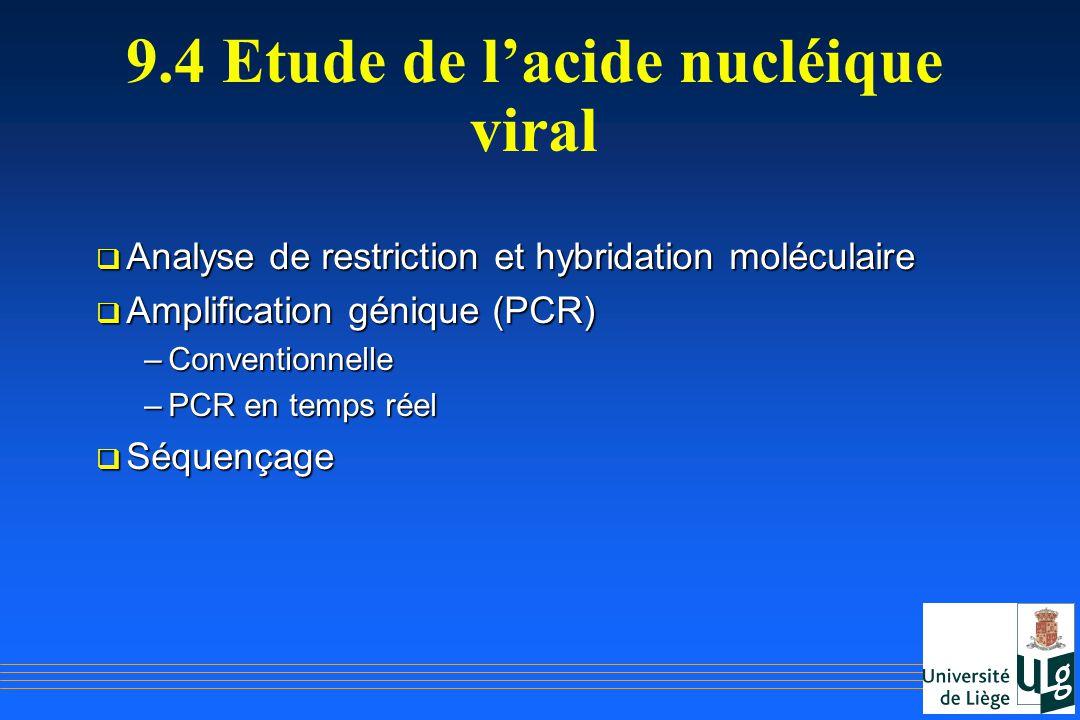 9.4 Etude de l'acide nucléique viral