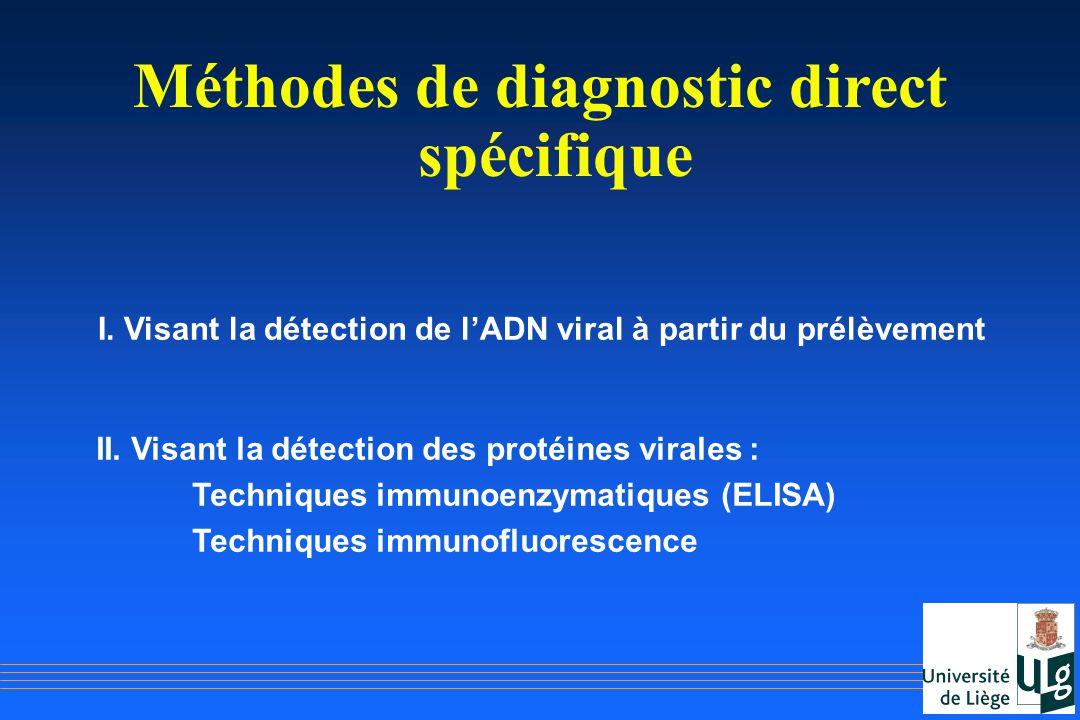 Méthodes de diagnostic direct spécifique