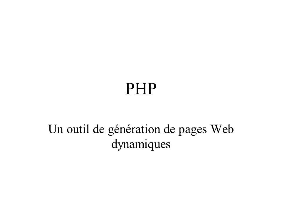 Un outil de génération de pages Web dynamiques