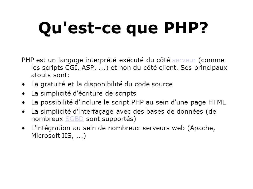 Qu est-ce que PHP