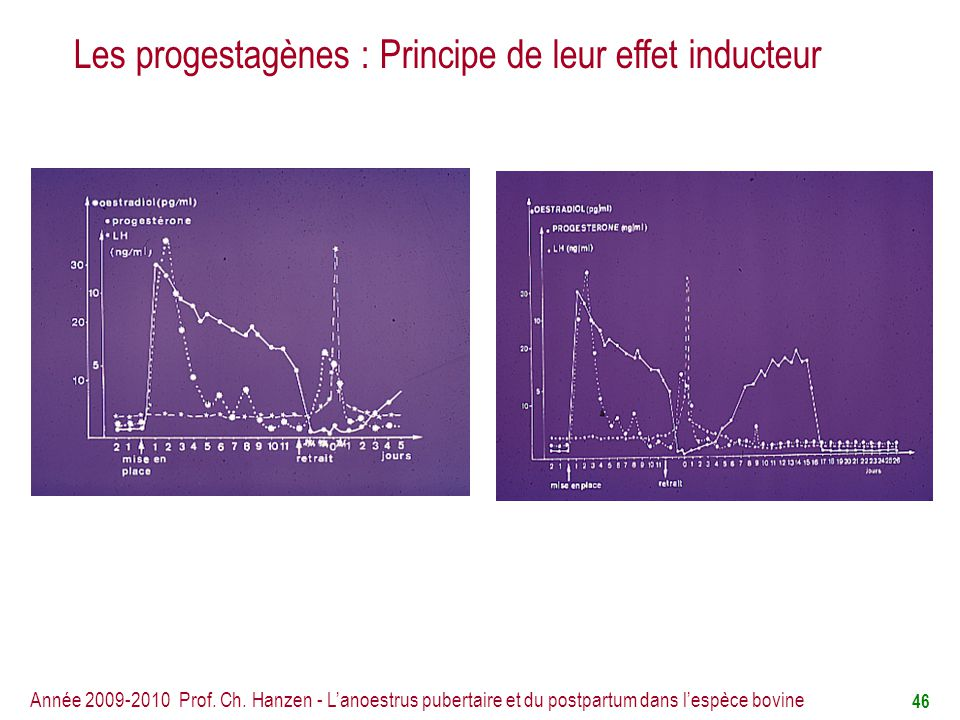 Les progestagènes : Principe de leur effet inducteur