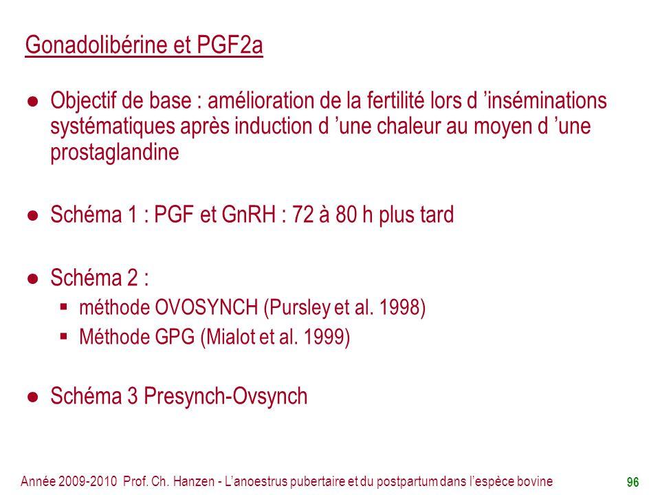 Gonadolibérine et PGF2a
