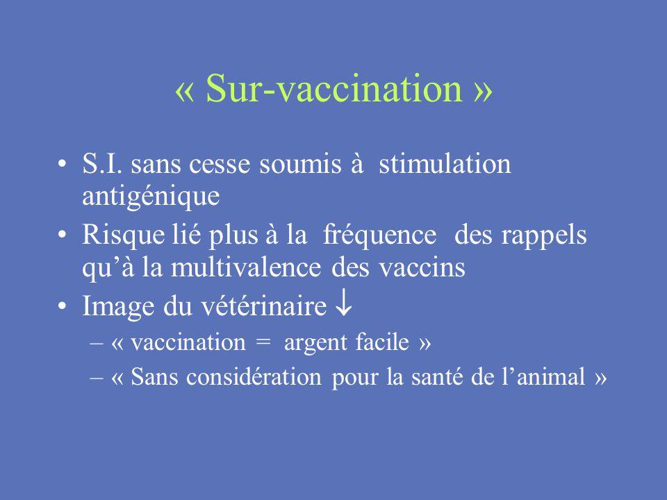 « Sur-vaccination » S.I. sans cesse soumis à stimulation antigénique