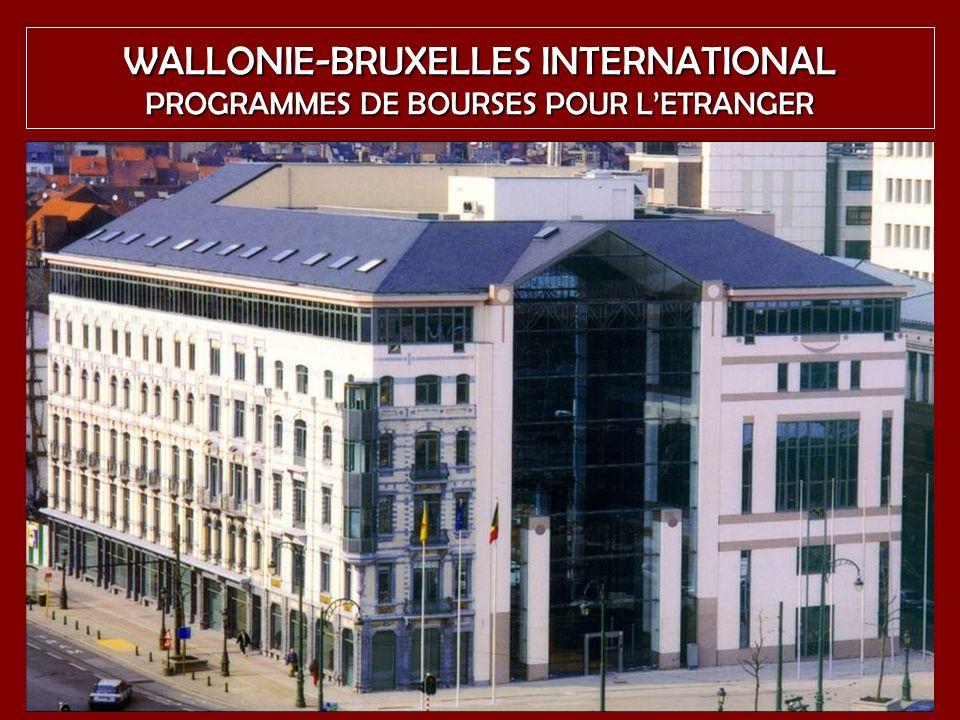 WALLONIE-BRUXELLES INTERNATIONAL PROGRAMMES DE BOURSES POUR L'ETRANGER