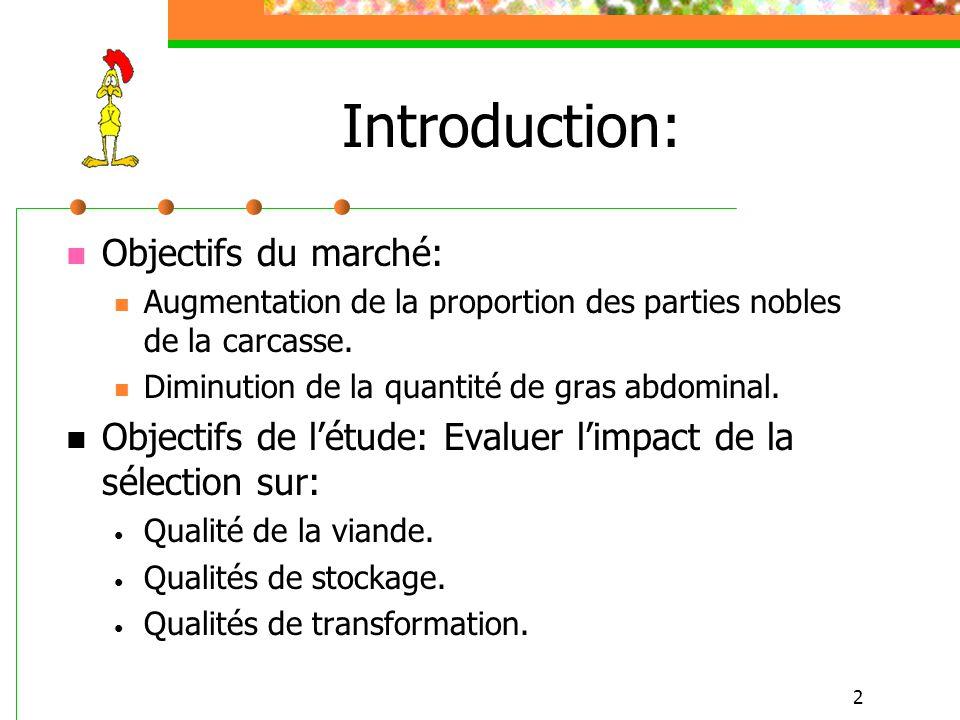Introduction: Objectifs du marché: