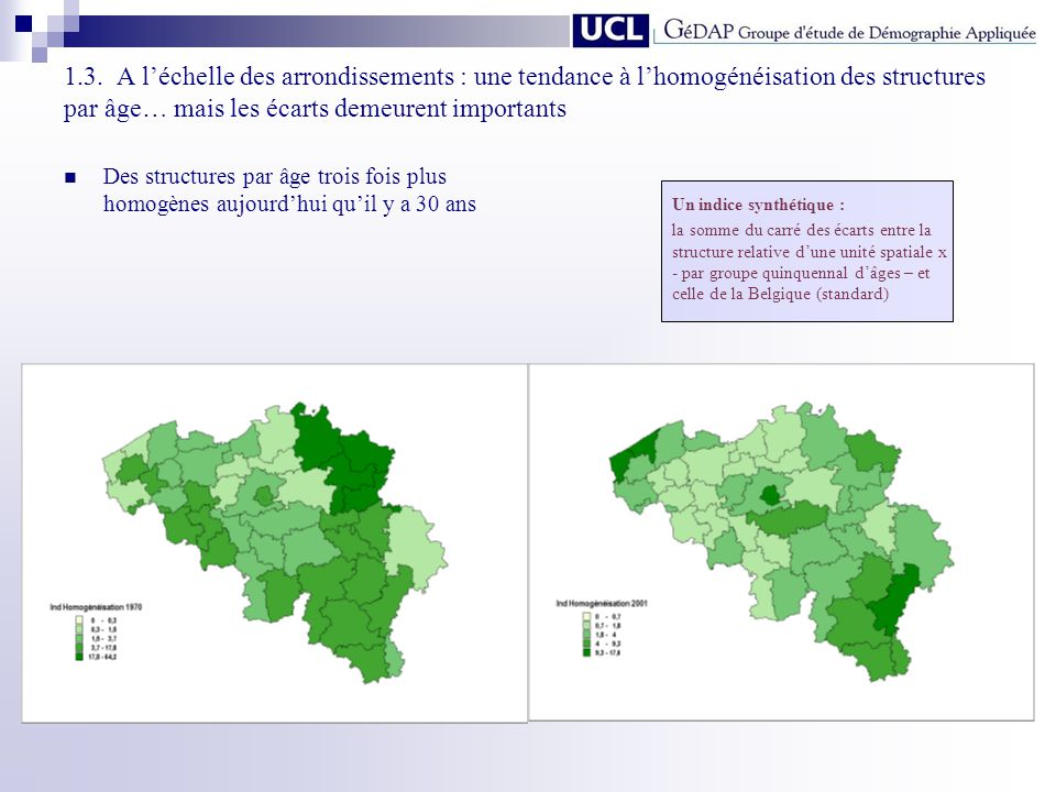 1.3. A l'échelle des arrondissements : une tendance à l'homogénéisation des structures par âge… mais les écarts demeurent importants