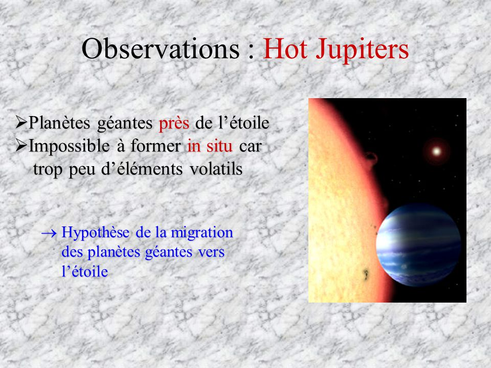 Observations : Hot Jupiters