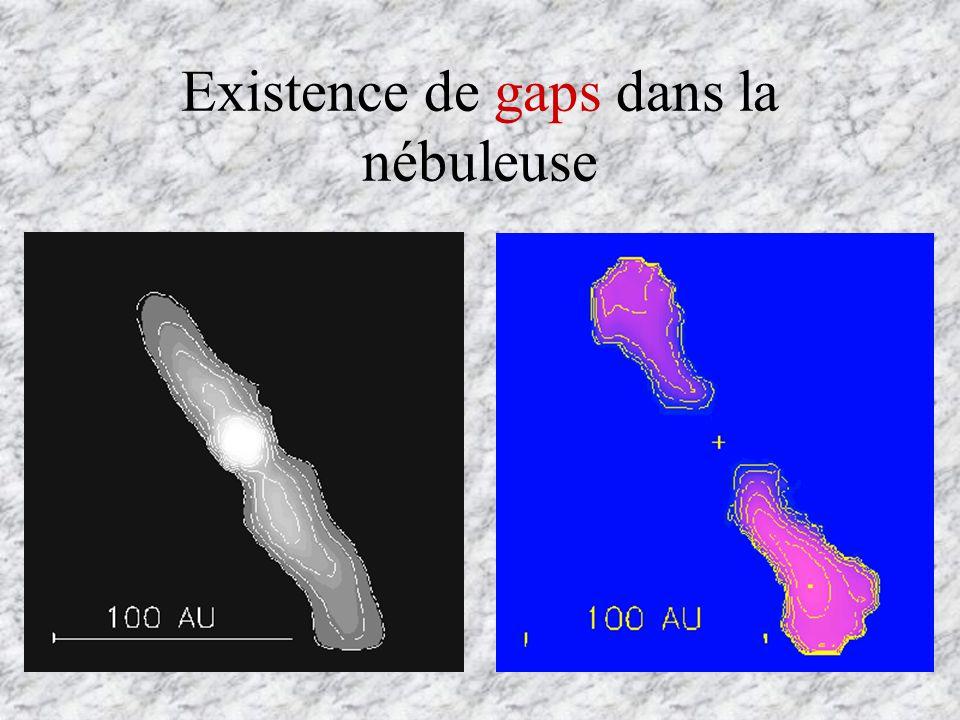Existence de gaps dans la nébuleuse