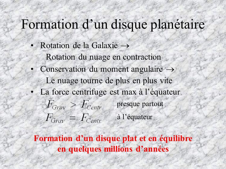 Formation d'un disque planétaire