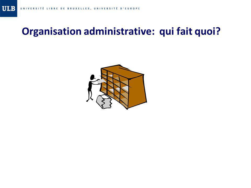 Organisation administrative: qui fait quoi