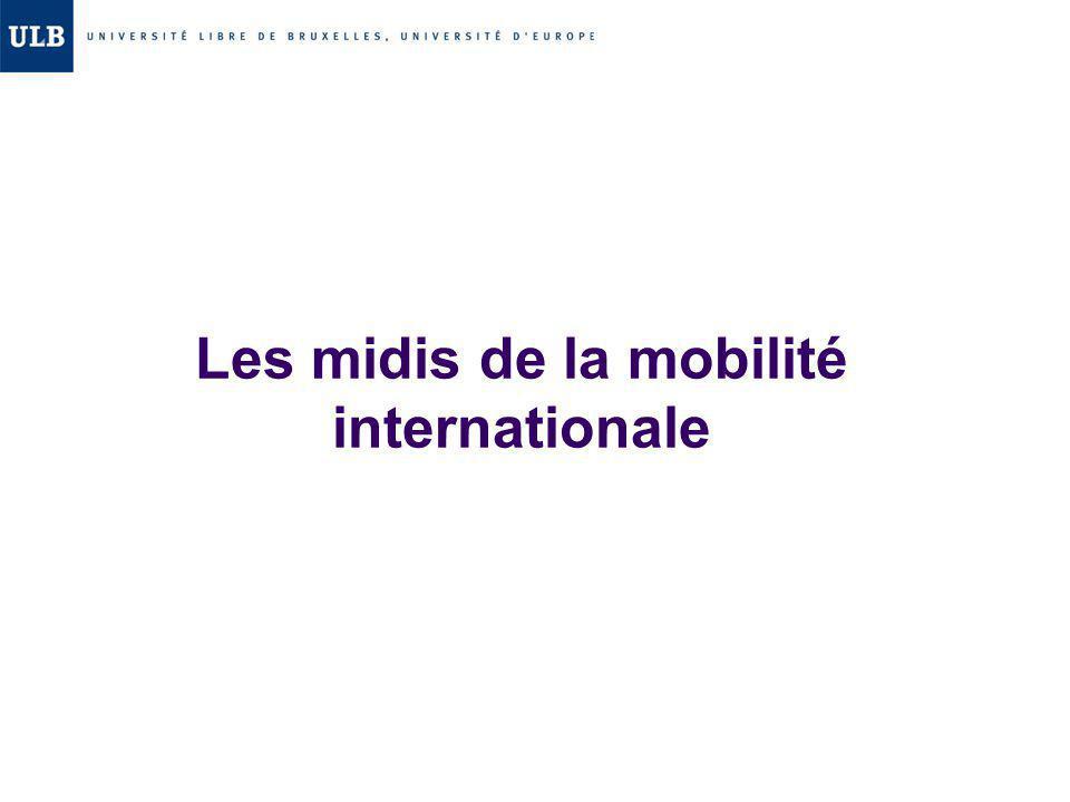 Les midis de la mobilité internationale