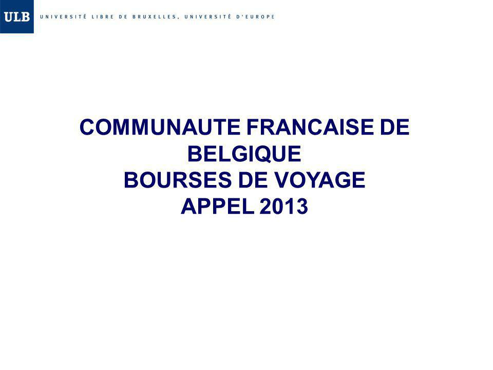 COMMUNAUTE FRANCAISE DE BELGIQUE