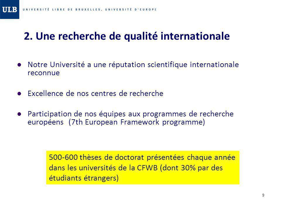 2. Une recherche de qualité internationale