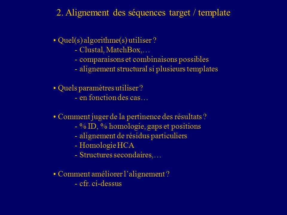 2. Alignement des séquences target / template