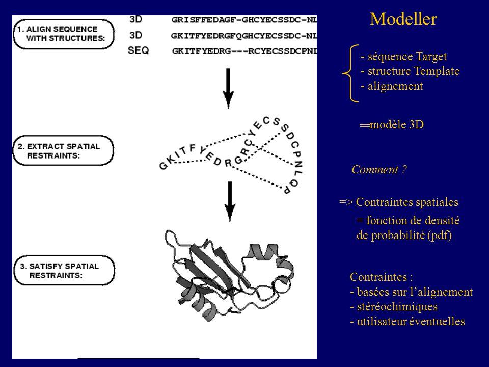 Modeller séquence Target structure Template alignement modèle 3D