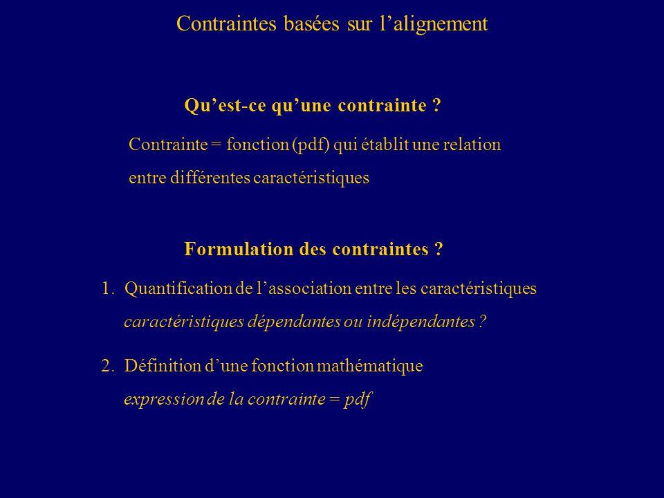 Contraintes basées sur l'alignement