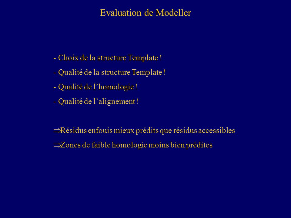 Evaluation de Modeller